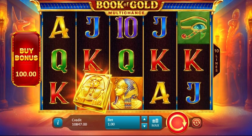 Book of Gold Multichance Slots Reels