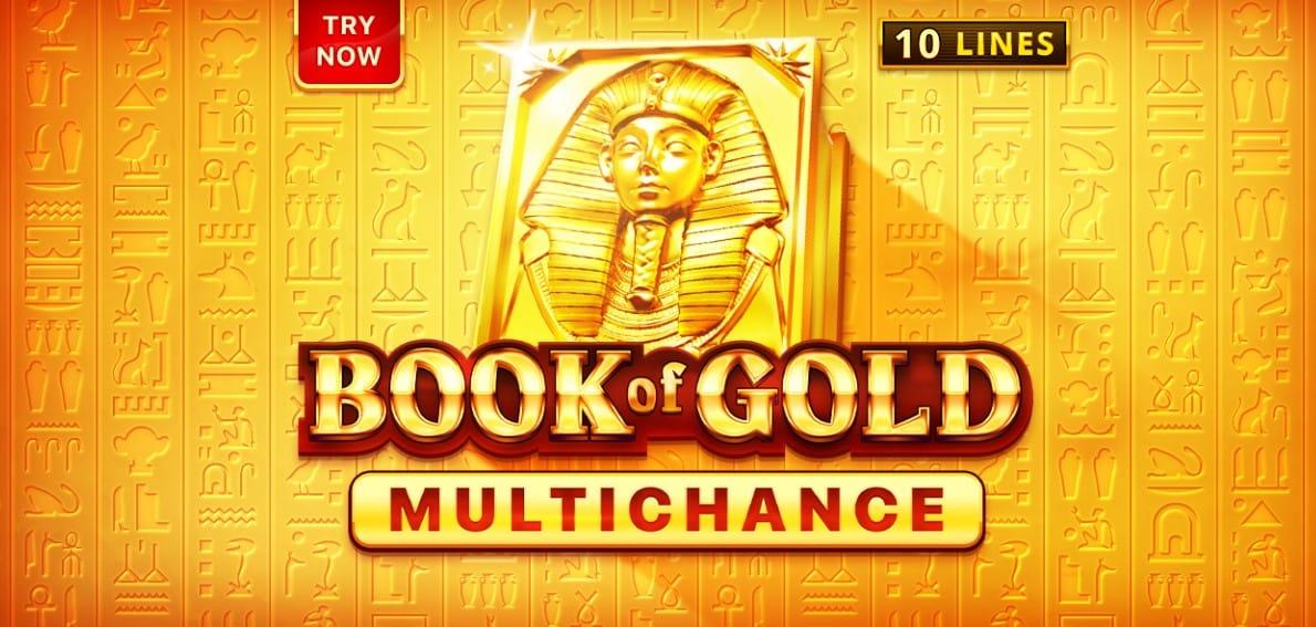 Book of Gold Multichance Slot Logo Slots Racer