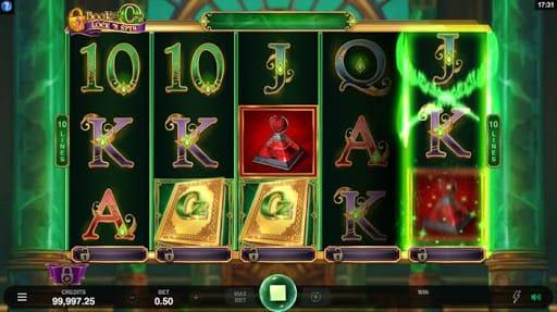 Book of Oz Lock 'N Spin Slots Reels