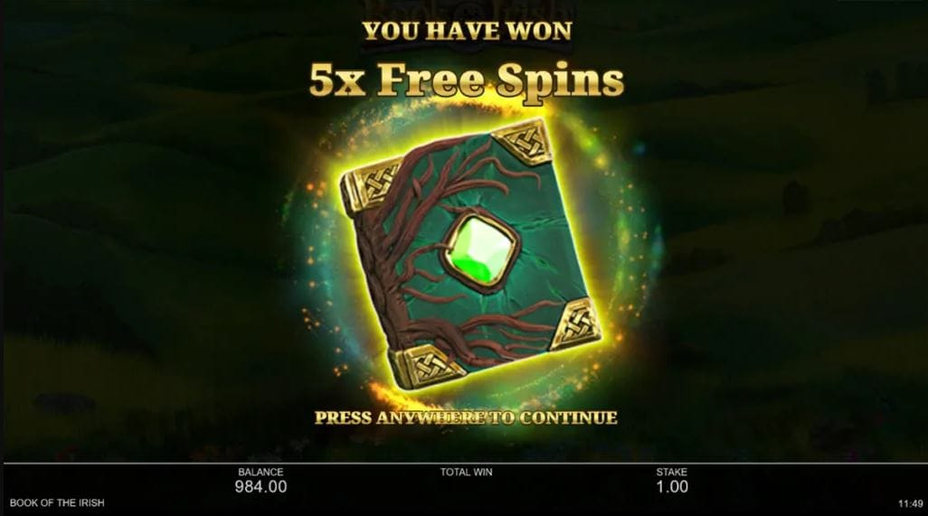 Book of the Irish Slot Free Spins