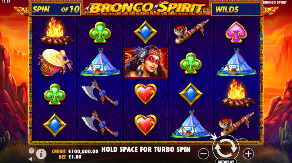 Bronco Spirit Slots Game