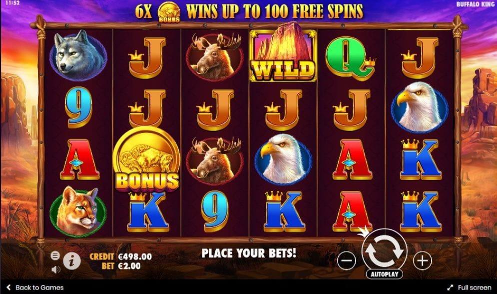 Buffalo King Slot Gameplay