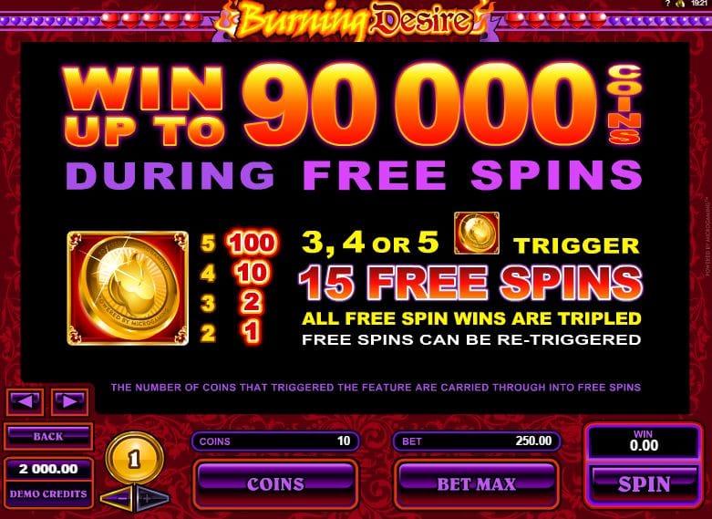 Burning Desire Free Slots