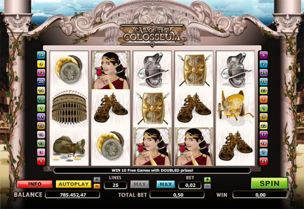 Call of the Colosseum Slots Game