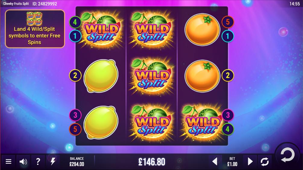 Cheeky Fruits Split Slot Gameplay