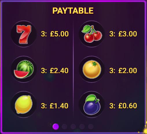 Cheeky Fruits Split Slot Table