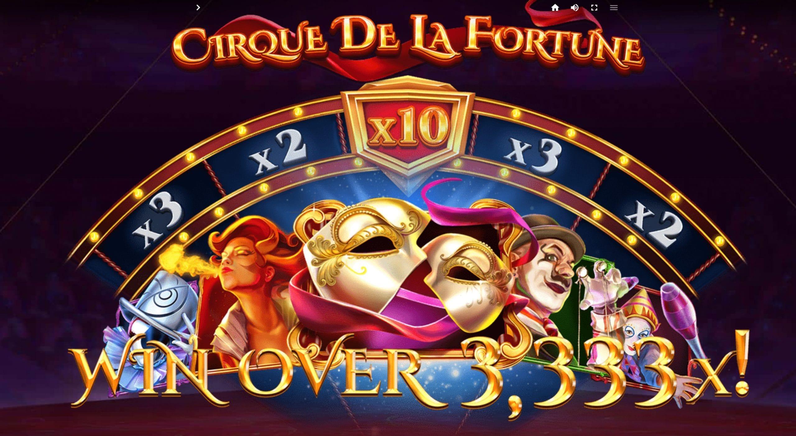 Cirque De La Fortune Slot Slots Racer