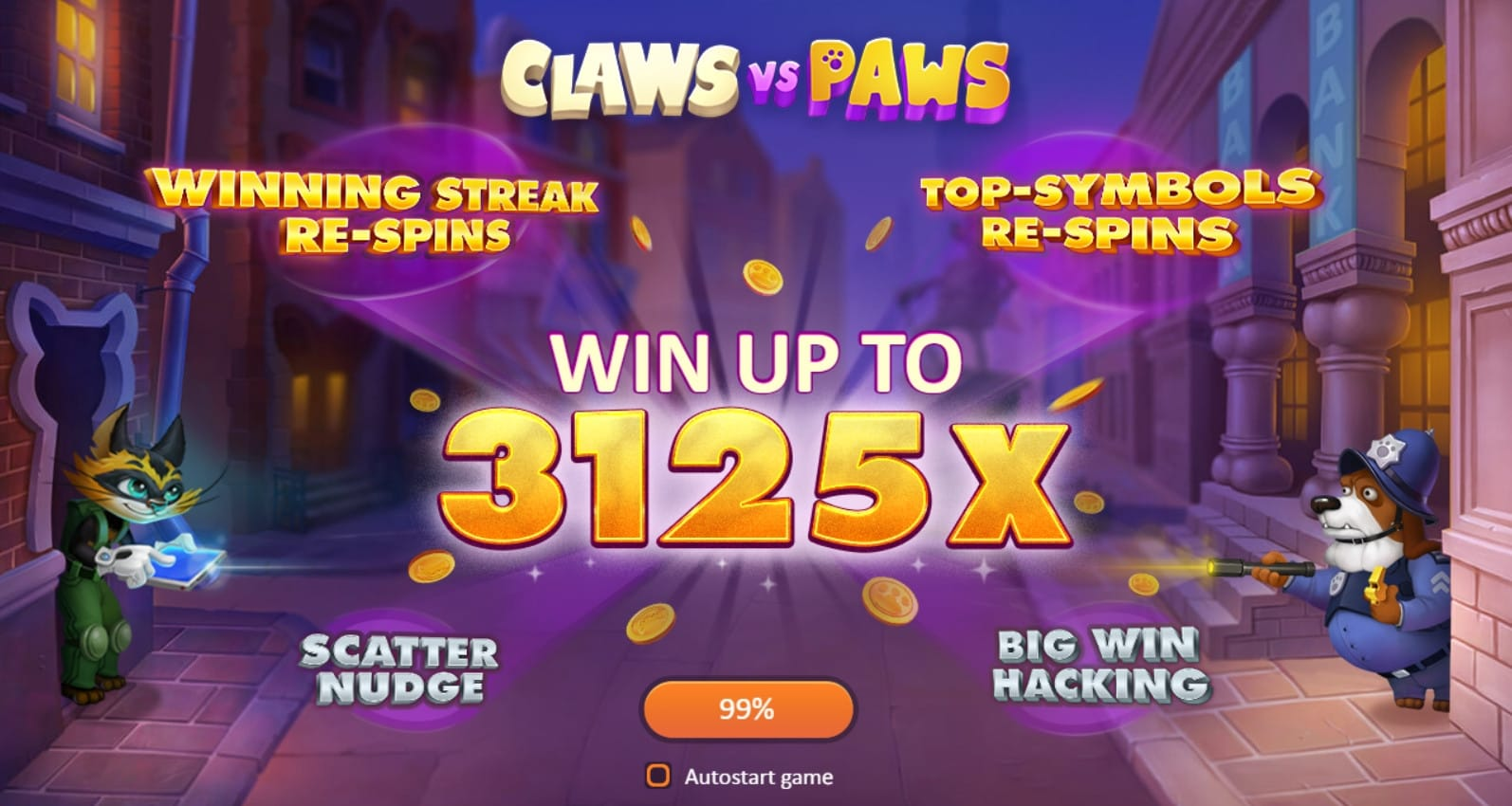 Claws Vs. Paws Free Slots Online