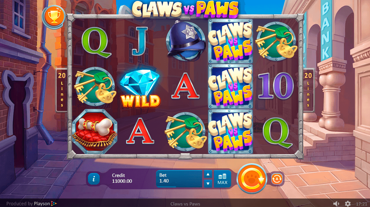 Claws Vs. Paws Slots Online