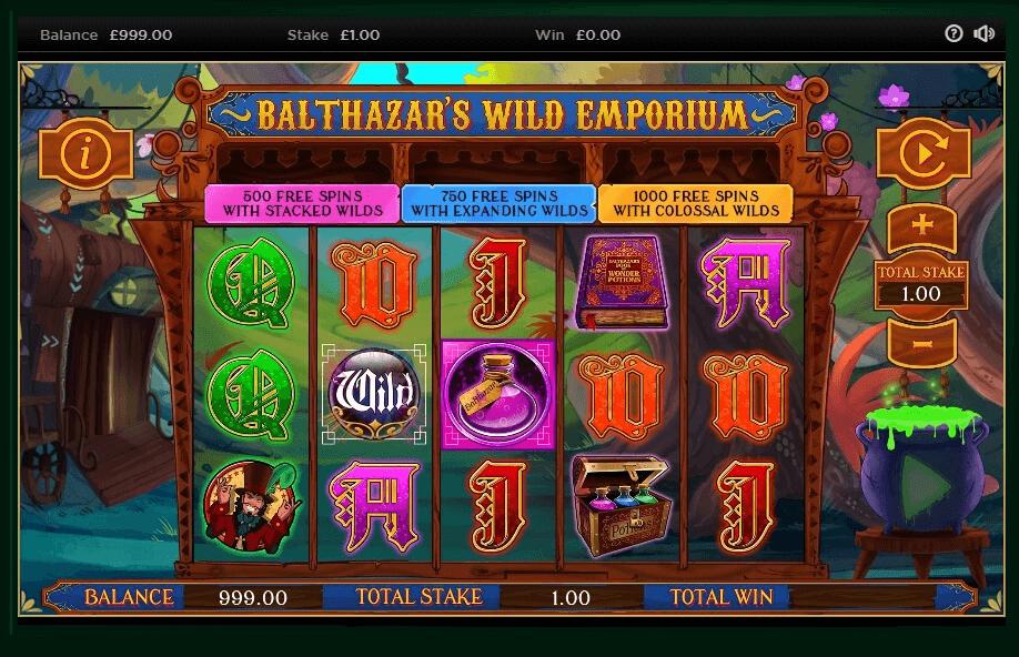 Balthazar's Wild Emporium Slots UK