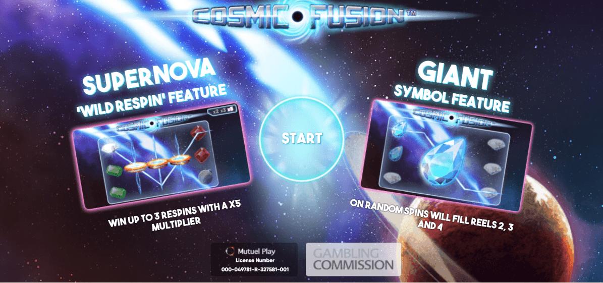 Cosmic Fusion Slot Bonus Games