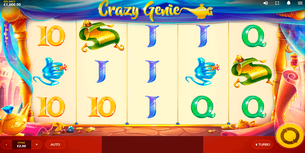 Crazy Genie Slots UK
