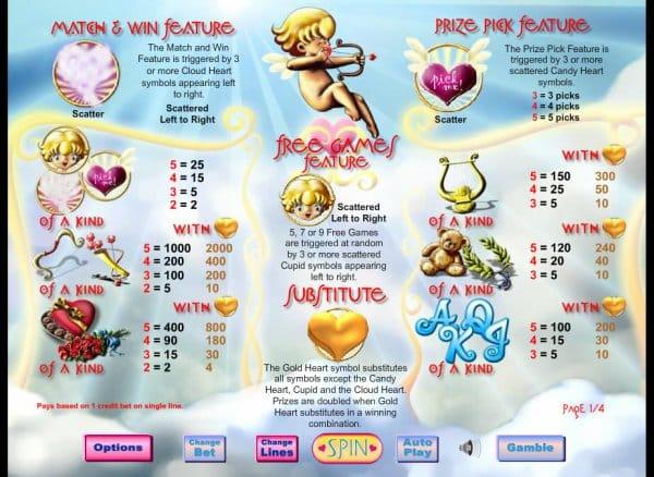 Cupid's Arrow Bonus Features