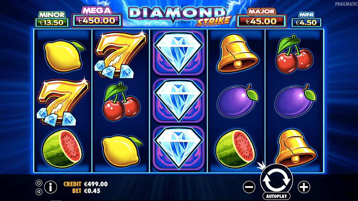 diamond strike video slot gameplay