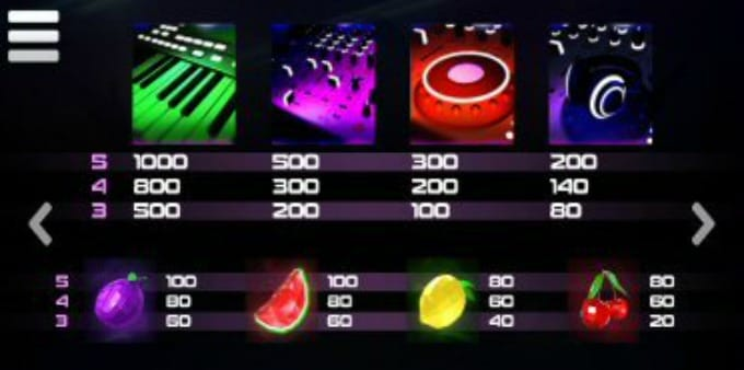 Play DJ Wild Slot Symbols