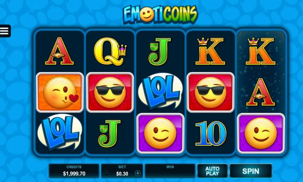 Emoticoins slot gameplay
