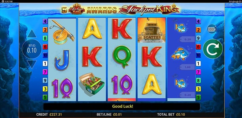 Fishin' Frenzy Jackpot King Free Slots