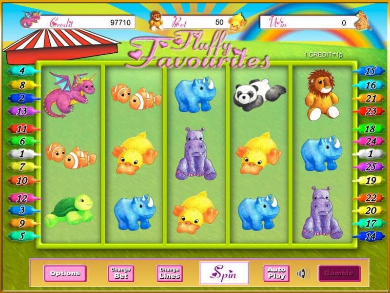 Fluffy Favourites slot gameplay
