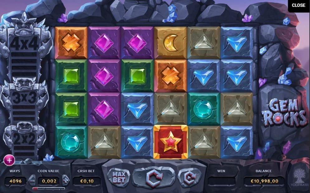 Gem Rocks gameplay casino
