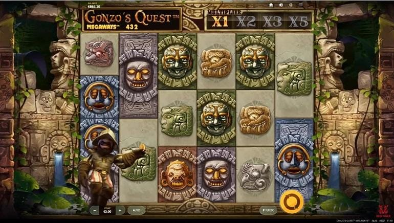 Gonzo's Quest Megaways Slots Game
