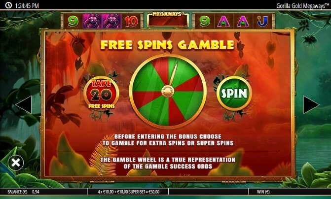Gorilla Gold Megaways Free Spins Slot