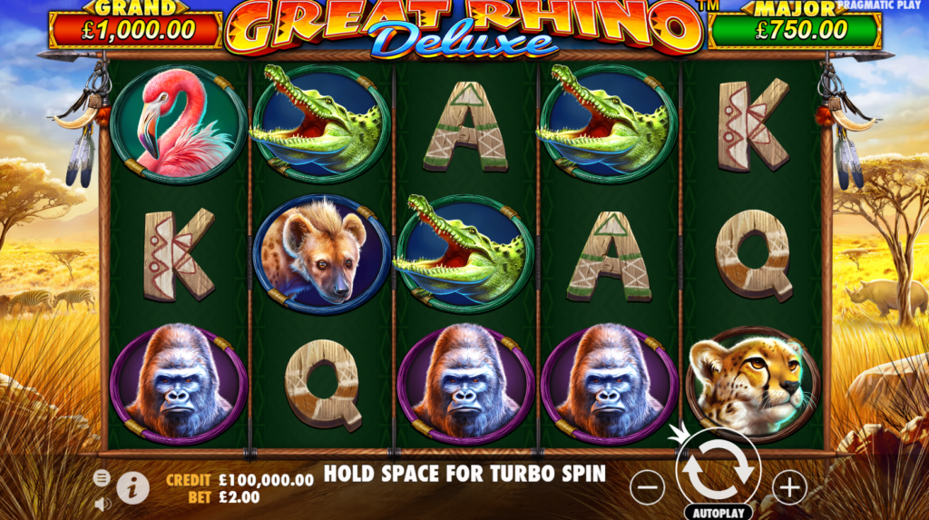 Great Rhino Deluxe Slots Online