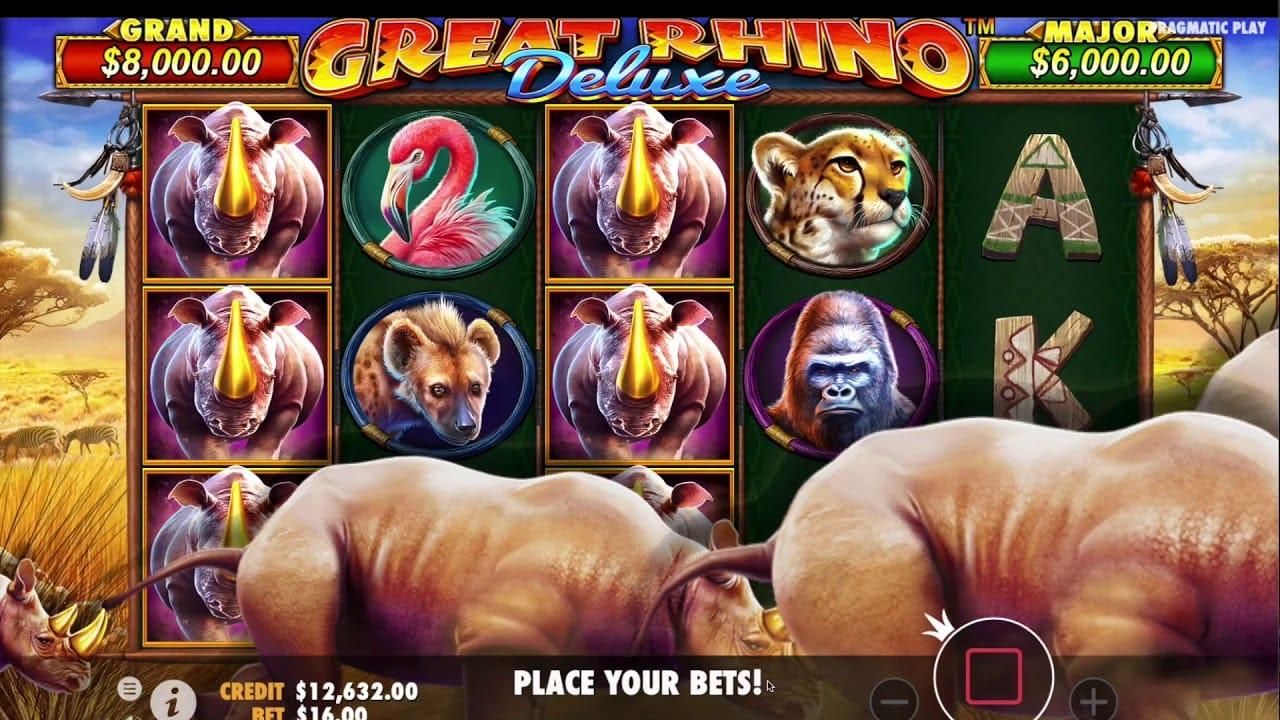 Great Rhino Deluxe Slot Game