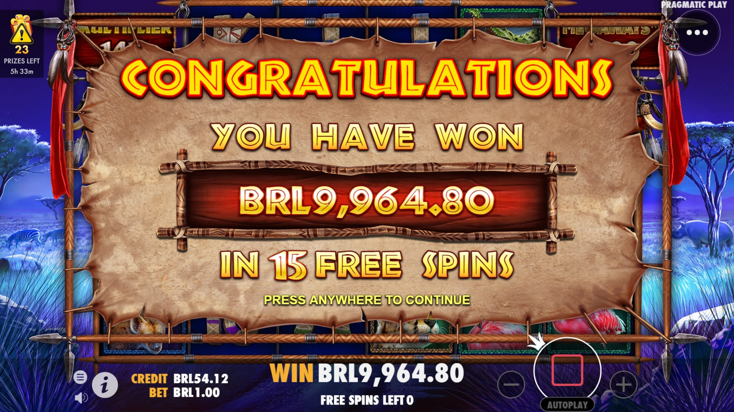 Great Rhino Megaways Slots Win
