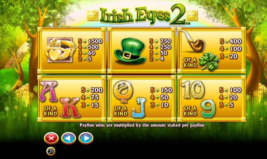 Irish Luck 2 slots Symbols