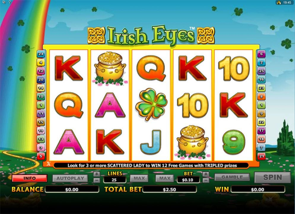 Irish Eyes Video Slots