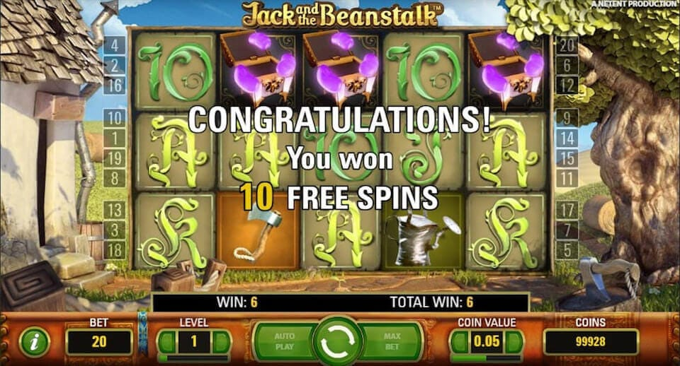 Jack and the Beanstalk Slot Game Bonus Features