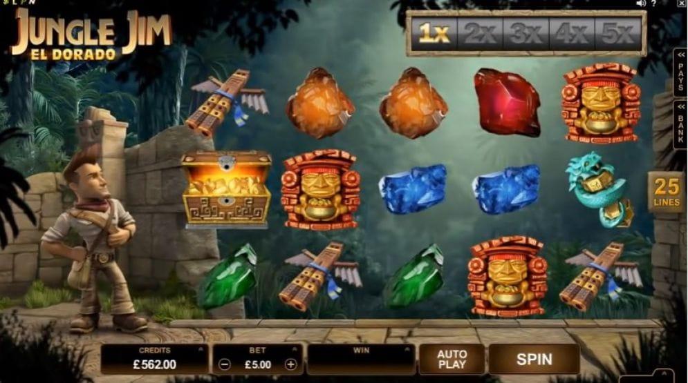 Jungle Jim – El Dorado slot gameplay
