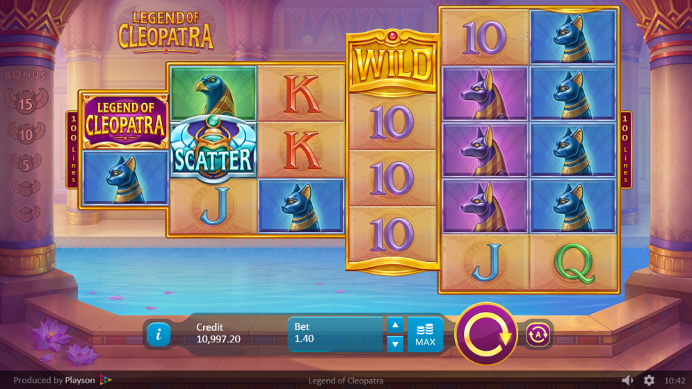 Legends of Cleopatra Slot Gameplay