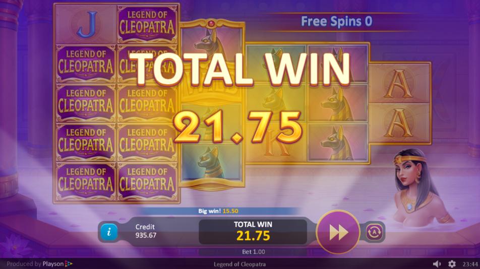 Legends of Cleopatra Big Win