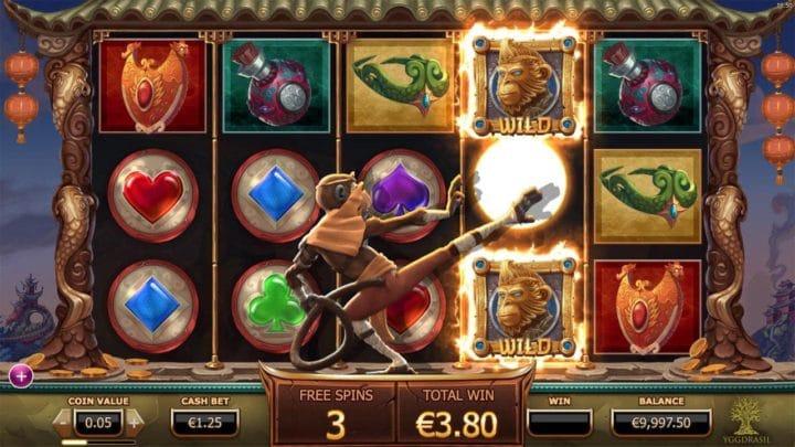 Legend of the Golden Monkey Slot Gameplay