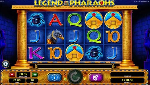 Legend of the Pharaohs Slots Reels