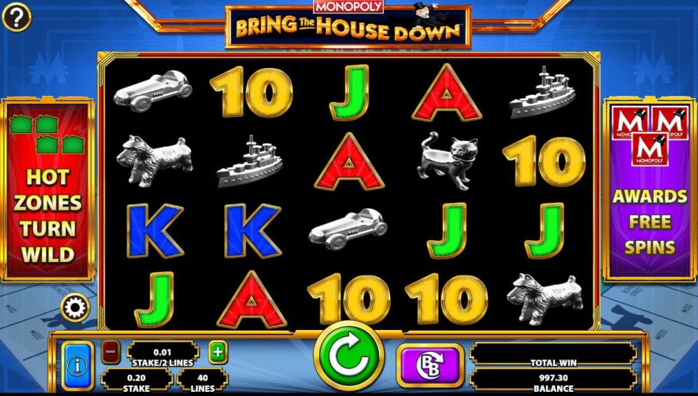 MONOPOLY Bring The House Down Slots Reels