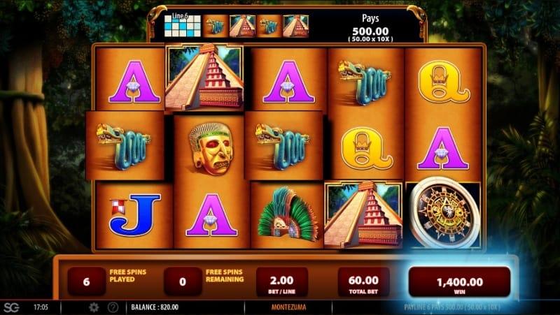 Montezuma Slot Gameplay