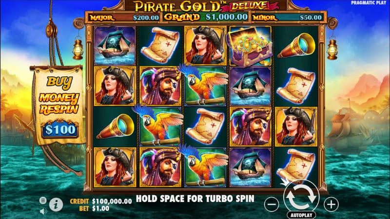 Pirate Gold Deluxe Slot Gameplay