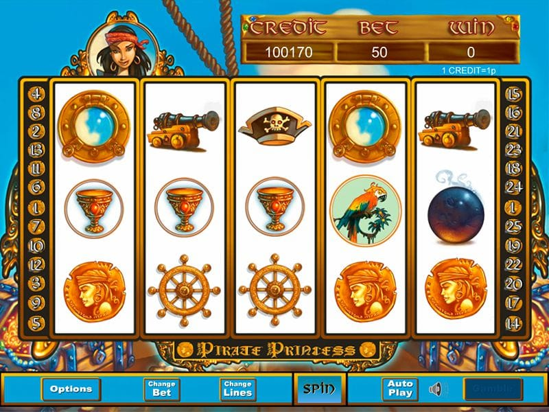 Pirate Princess Slots Reels