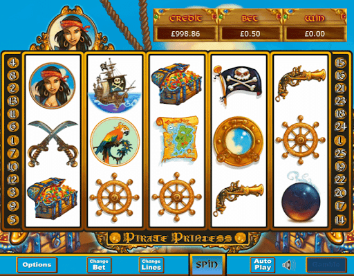 Pirate Princess Slot Gameplay