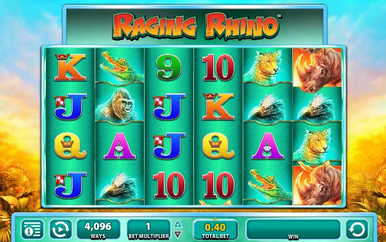 Raging Rhino Slot Gameplay
