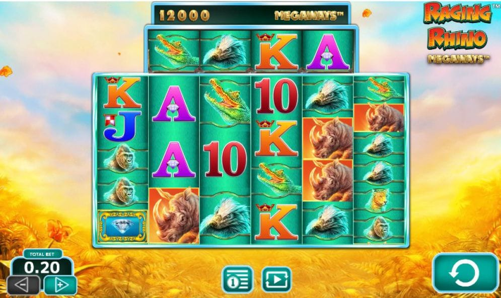 Raging Rhino MegaWays Slot Gameplay
