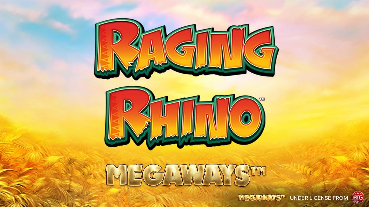 Raging Rhino MegaWays Slot Logo Slots Racer