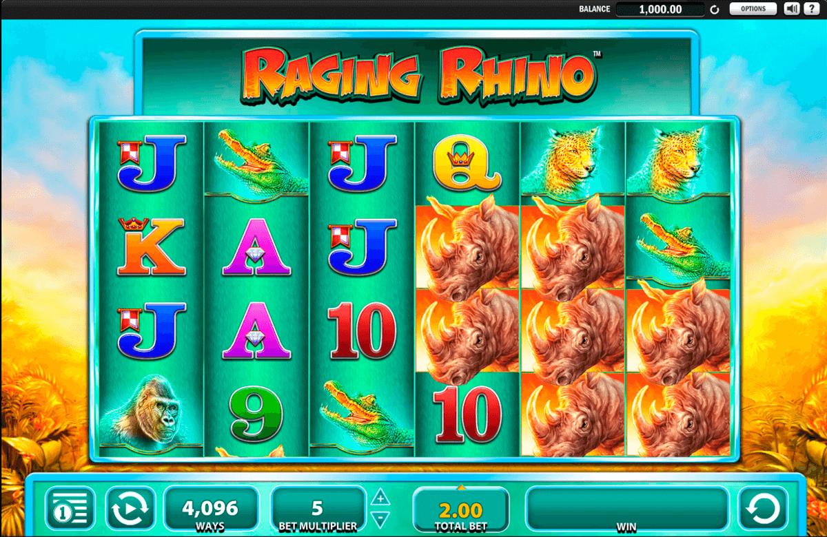 Raging Rhino Slots Reels