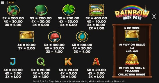 Rainbow Cash Pot Slots Racer