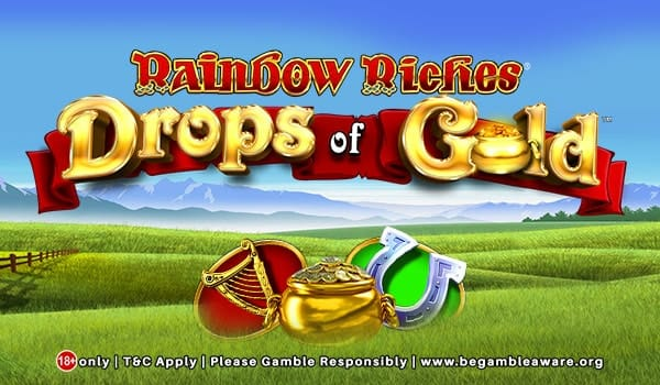 Rainbow Riches: Drops of Gold Logo