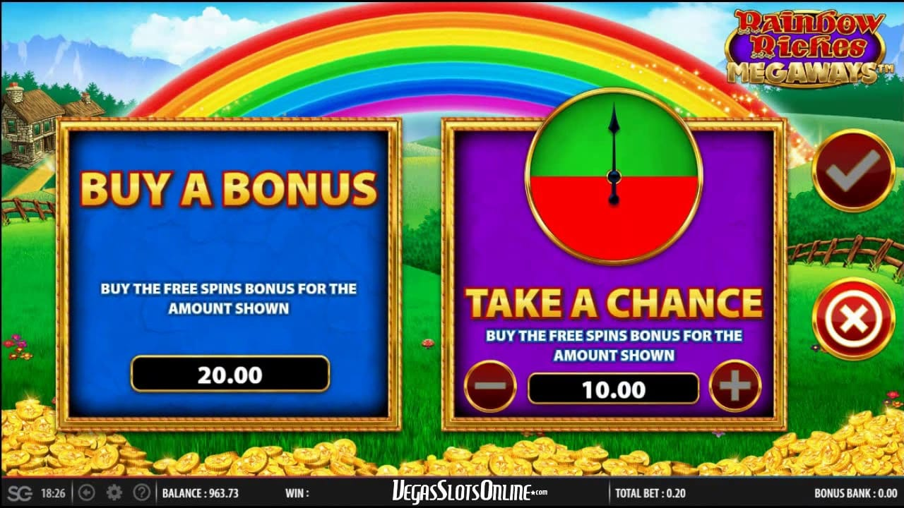 rainbow riches megaways bonuses