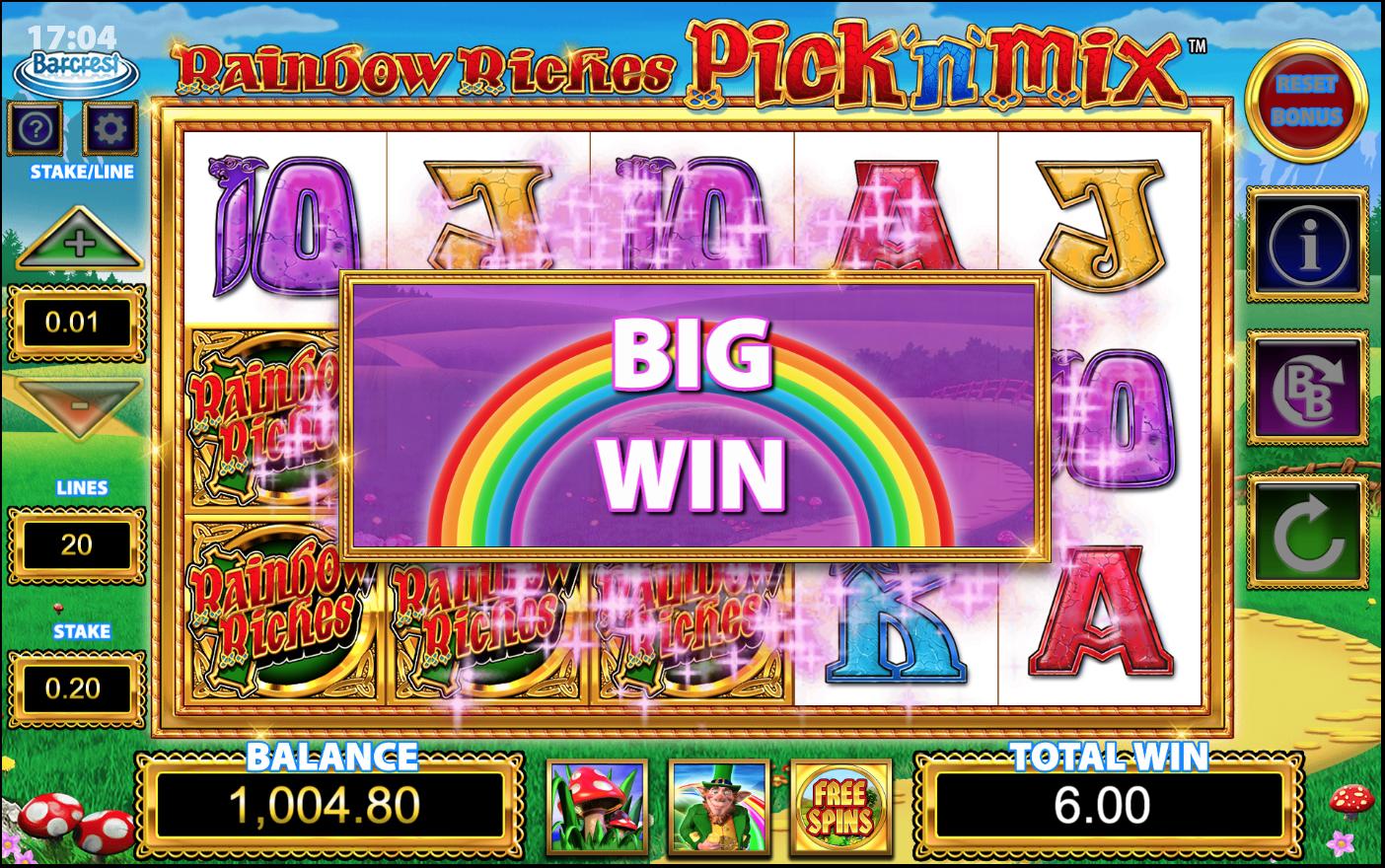 Rainbow Riches Pick N Mix Slots Win