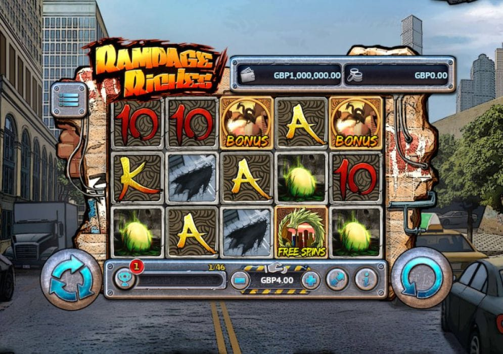 Rampage Riches Slot Gameplay